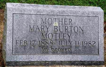 BURTON MOTLEY, MARY - Prairie County, Arkansas | MARY BURTON MOTLEY - Arkansas Gravestone Photos