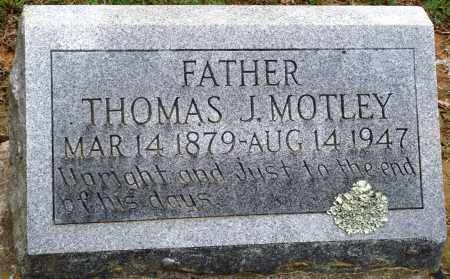 MOTLEY, THOMAS J - Prairie County, Arkansas | THOMAS J MOTLEY - Arkansas Gravestone Photos