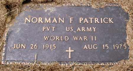 PATRICK (VETERAN WWII), NORMAN F - Prairie County, Arkansas | NORMAN F PATRICK (VETERAN WWII) - Arkansas Gravestone Photos