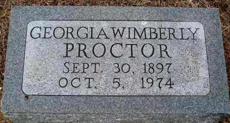 WIMBERLY PROCTOR, GEORGIA - Prairie County, Arkansas | GEORGIA WIMBERLY PROCTOR - Arkansas Gravestone Photos