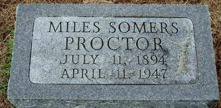 PROCTOR, MILES SOMERS - Prairie County, Arkansas | MILES SOMERS PROCTOR - Arkansas Gravestone Photos