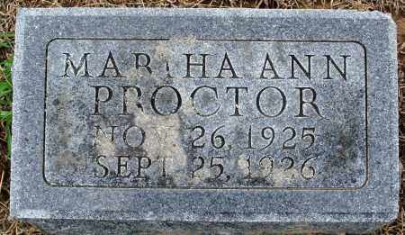 PROCTOR, MARTHA ANN - Prairie County, Arkansas | MARTHA ANN PROCTOR - Arkansas Gravestone Photos