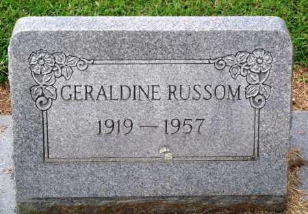 RUSSOM, GERALDINE - Prairie County, Arkansas | GERALDINE RUSSOM - Arkansas Gravestone Photos