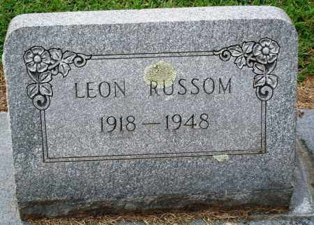 RUSSOM, LEON - Prairie County, Arkansas | LEON RUSSOM - Arkansas Gravestone Photos