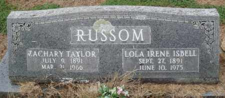 RUSSOM, ZACHARY TAYLOR - Prairie County, Arkansas | ZACHARY TAYLOR RUSSOM - Arkansas Gravestone Photos