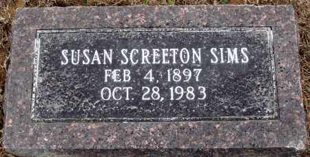 SCREETON SIMS, SUSAN - Prairie County, Arkansas | SUSAN SCREETON SIMS - Arkansas Gravestone Photos