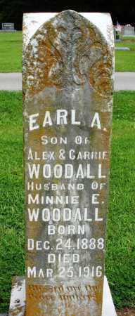 WOODALL, EARL A - Prairie County, Arkansas | EARL A WOODALL - Arkansas Gravestone Photos