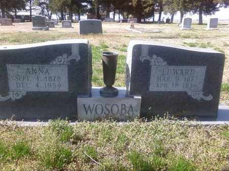 WOSOBA, EDWARD - Prairie County, Arkansas | EDWARD WOSOBA - Arkansas Gravestone Photos