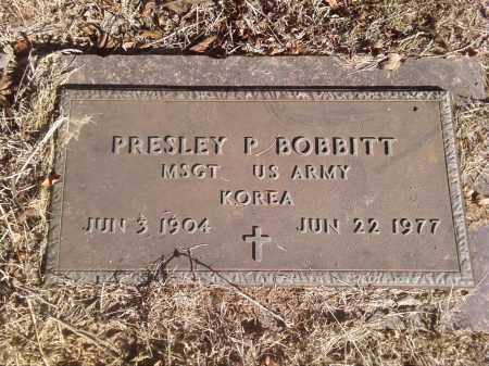 BOBBITT  (VETERAN KOR), PRESLEY P - Pulaski County, Arkansas | PRESLEY P BOBBITT  (VETERAN KOR) - Arkansas Gravestone Photos