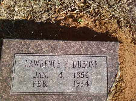 DUBOSE, LAWRENCE F. - Pulaski County, Arkansas | LAWRENCE F. DUBOSE - Arkansas Gravestone Photos