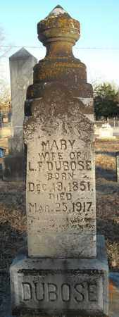 DUBOSE, MARY - Pulaski County, Arkansas | MARY DUBOSE - Arkansas Gravestone Photos