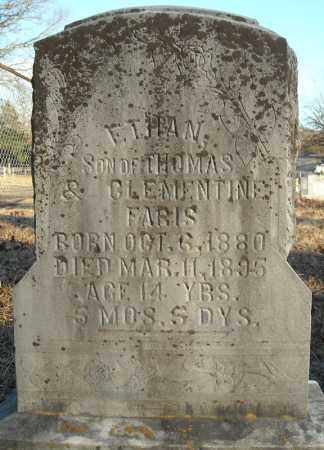 FARIS, ETHAN - Pulaski County, Arkansas | ETHAN FARIS - Arkansas Gravestone Photos