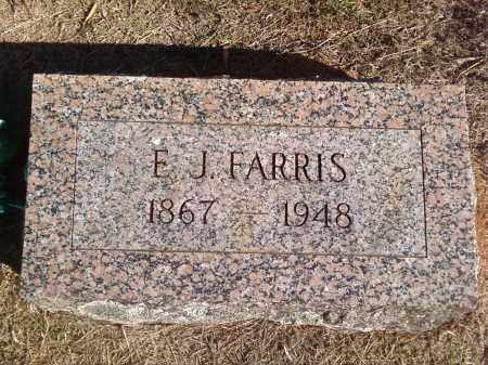 FARRIS, EDWARD JACKSON - Pulaski County, Arkansas | EDWARD JACKSON FARRIS - Arkansas Gravestone Photos