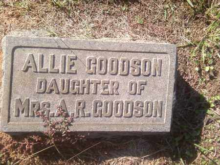 GOODSON, ALLIE - Pulaski County, Arkansas | ALLIE GOODSON - Arkansas Gravestone Photos
