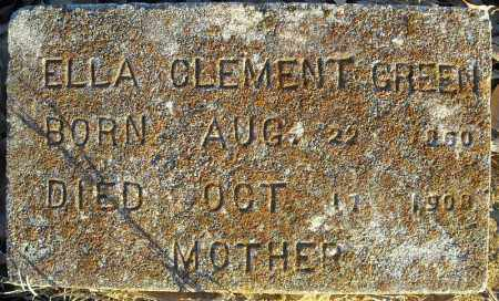 GREEN, ELLA CLEMENT - Pulaski County, Arkansas | ELLA CLEMENT GREEN - Arkansas Gravestone Photos
