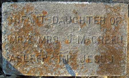GREEN, INFANT DAUGHTER - Pulaski County, Arkansas | INFANT DAUGHTER GREEN - Arkansas Gravestone Photos