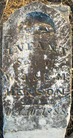 HENSON, INFANT SON - Pulaski County, Arkansas | INFANT SON HENSON - Arkansas Gravestone Photos
