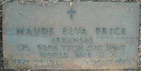 PRICE  (VETERAN WWII), MAUDE ELVA - Pulaski County, Arkansas | MAUDE ELVA PRICE  (VETERAN WWII) - Arkansas Gravestone Photos