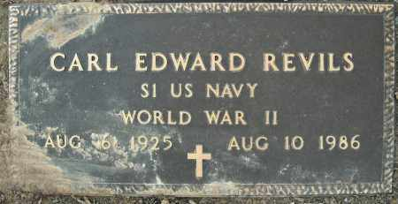 REVILS  (VETERAN WWII), CARL EDWARDS - Pulaski County, Arkansas | CARL EDWARDS REVILS  (VETERAN WWII) - Arkansas Gravestone Photos