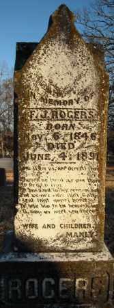 ROGERS, F. J. - Pulaski County, Arkansas | F. J. ROGERS - Arkansas Gravestone Photos