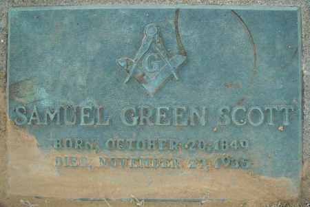 SCOTT, SAMUEL GREEN - Pulaski County, Arkansas | SAMUEL GREEN SCOTT - Arkansas Gravestone Photos