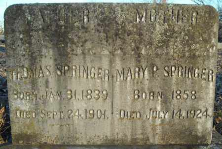 SPRINGER, MARY P. - Pulaski County, Arkansas | MARY P. SPRINGER - Arkansas Gravestone Photos