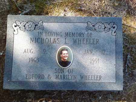 "WHEELER, NICHOLAS LEE ""NICK"" - Pulaski County, Arkansas | NICHOLAS LEE ""NICK"" WHEELER - Arkansas Gravestone Photos"