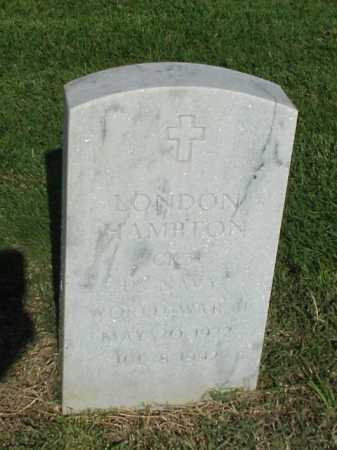 HAMPTON (VETERAN WWII), LONDON - Pulaski County, Arkansas | LONDON HAMPTON (VETERAN WWII) - Arkansas Gravestone Photos