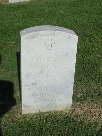 YOUNG (VETERAN WWII), HENRY - Pulaski County, Arkansas | HENRY YOUNG (VETERAN WWII) - Arkansas Gravestone Photos