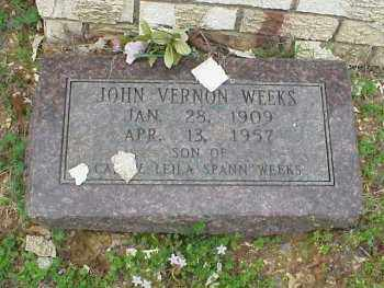 WEEKS, JOHN VERNON - Pulaski County, Arkansas | JOHN VERNON WEEKS - Arkansas Gravestone Photos