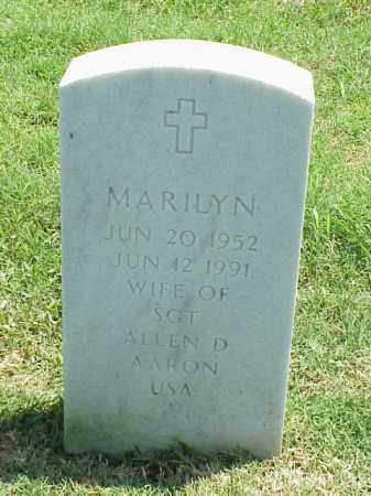 AARON, MARILYN - Pulaski County, Arkansas | MARILYN AARON - Arkansas Gravestone Photos