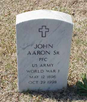 AARON, SR (VETERAN WWI), JOHN - Pulaski County, Arkansas | JOHN AARON, SR (VETERAN WWI) - Arkansas Gravestone Photos