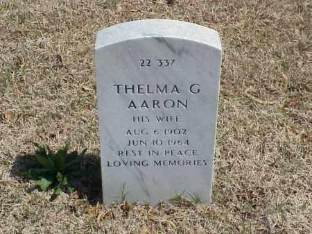AARON, THELMA G - Pulaski County, Arkansas | THELMA G AARON - Arkansas Gravestone Photos