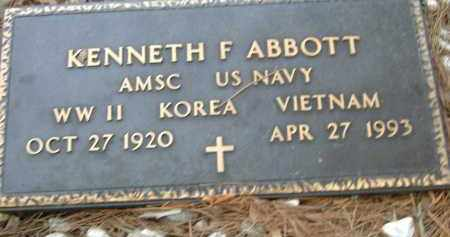 ABBOTT (VETERAN 3WARS), KENNETH F - Pulaski County, Arkansas | KENNETH F ABBOTT (VETERAN 3WARS) - Arkansas Gravestone Photos