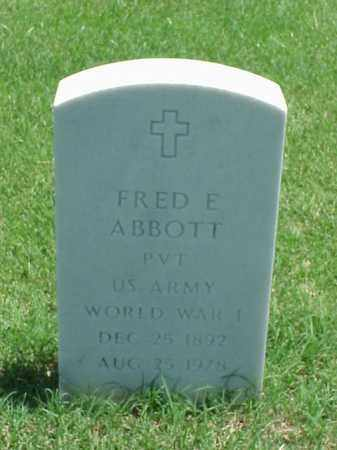ABBOTT (VETERAN WWI), FRED E - Pulaski County, Arkansas | FRED E ABBOTT (VETERAN WWI) - Arkansas Gravestone Photos
