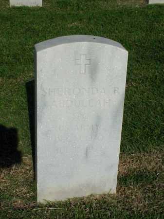 ABDULLAH (VETERAN PGW), SHERONDA R - Pulaski County, Arkansas | SHERONDA R ABDULLAH (VETERAN PGW) - Arkansas Gravestone Photos