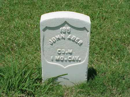 ABER (VETERAN UNION), JOHN - Pulaski County, Arkansas | JOHN ABER (VETERAN UNION) - Arkansas Gravestone Photos