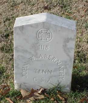 ABERNATHY (VETERAN CSA), JOHN W - Pulaski County, Arkansas | JOHN W ABERNATHY (VETERAN CSA) - Arkansas Gravestone Photos