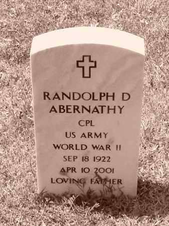 ABERNATHY (VETERAN WWII), RANDOLPH D - Pulaski County, Arkansas | RANDOLPH D ABERNATHY (VETERAN WWII) - Arkansas Gravestone Photos