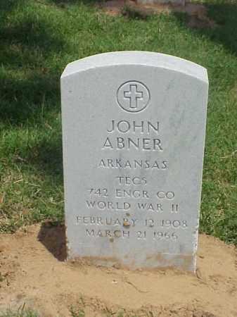 ABNER (VETERAN WWII), JOHN - Pulaski County, Arkansas | JOHN ABNER (VETERAN WWII) - Arkansas Gravestone Photos
