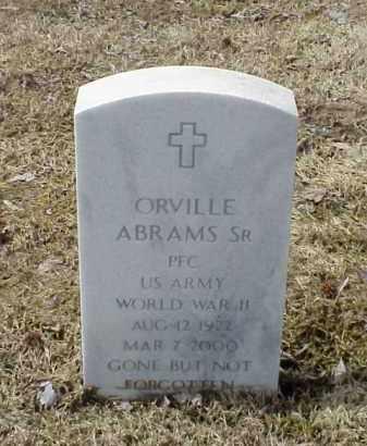 ABRAMS, SR  (VETERAN  WWII), ORVILLE - Pulaski County, Arkansas | ORVILLE ABRAMS, SR  (VETERAN  WWII) - Arkansas Gravestone Photos