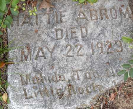 ABROM, HATTIE - Pulaski County, Arkansas | HATTIE ABROM - Arkansas Gravestone Photos