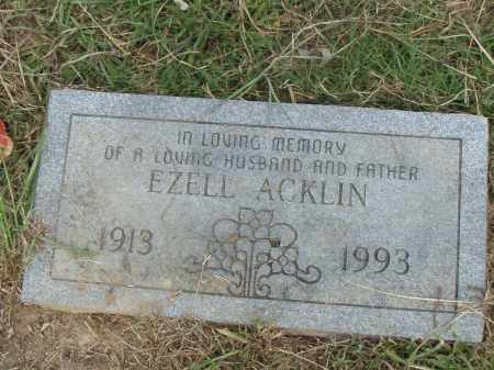 ACKLIN, EZELL - Pulaski County, Arkansas | EZELL ACKLIN - Arkansas Gravestone Photos