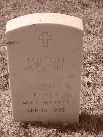 ACKLIN (VETERAN KOR), MILTON - Pulaski County, Arkansas | MILTON ACKLIN (VETERAN KOR) - Arkansas Gravestone Photos