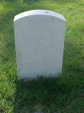 ACKLIN (VETERAN WWII), JOHN L - Pulaski County, Arkansas | JOHN L ACKLIN (VETERAN WWII) - Arkansas Gravestone Photos