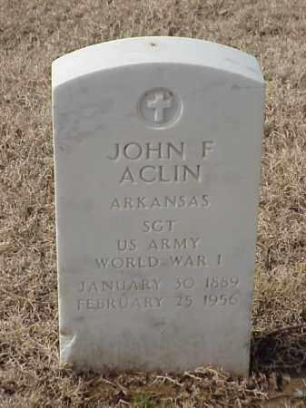 ACLIN (VETERAN WWI), JOHN F - Pulaski County, Arkansas | JOHN F ACLIN (VETERAN WWI) - Arkansas Gravestone Photos