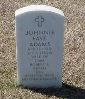 ADAMS, JOHNNIE FAYE - Pulaski County, Arkansas | JOHNNIE FAYE ADAMS - Arkansas Gravestone Photos