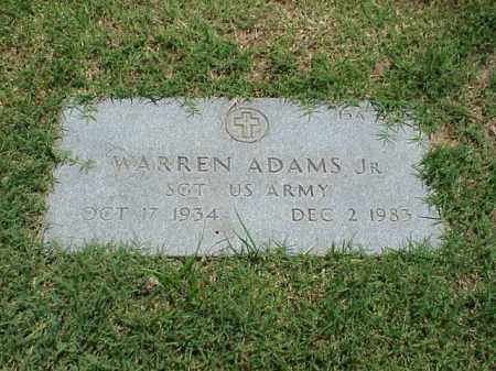 ADAMS, JR (VETERAN), WARREN - Pulaski County, Arkansas | WARREN ADAMS, JR (VETERAN) - Arkansas Gravestone Photos