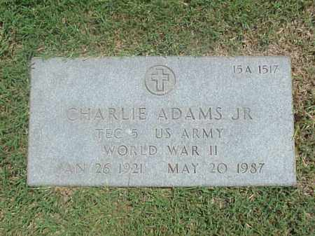 ADAMS, JR (VETERAN WWII), CHARLIE - Pulaski County, Arkansas | CHARLIE ADAMS, JR (VETERAN WWII) - Arkansas Gravestone Photos