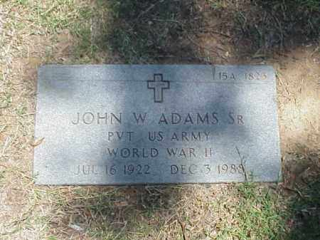 ADAMS, SR (VETERAN WWII), JOHN W - Pulaski County, Arkansas | JOHN W ADAMS, SR (VETERAN WWII) - Arkansas Gravestone Photos